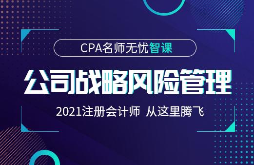 2021年CPA名师无忧智课-公司战略风险管理