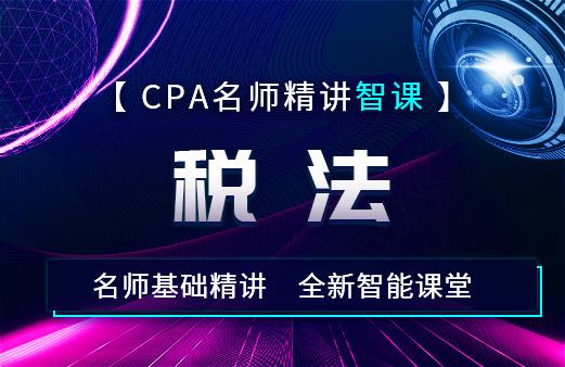 2021年CPA名师精讲智课—税法