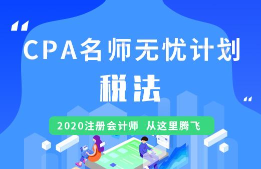 CPA名师无忧班(导学+基础+精讲+习题+冲刺)--税法图片